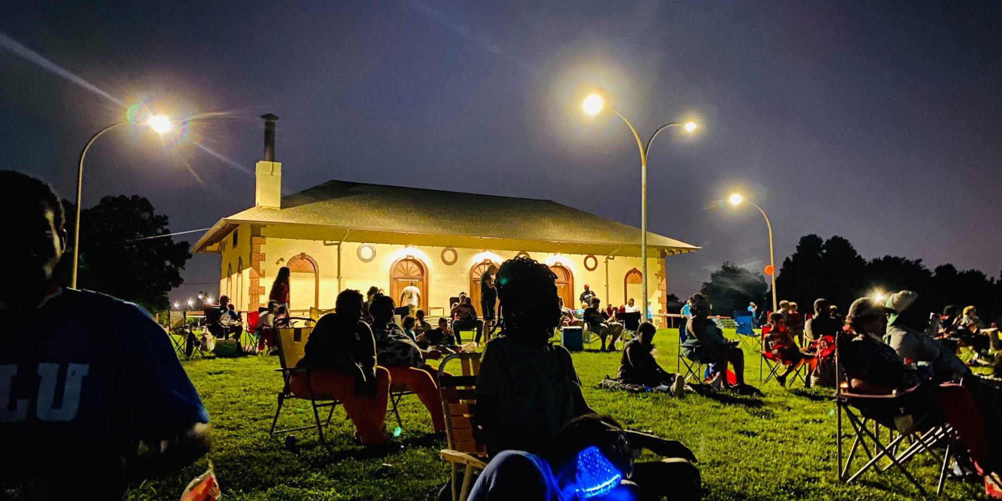 July 2020 Dutchtown Movie Night in Marquette Park. Photo by Ben Robinson of Billionaire Royalties.