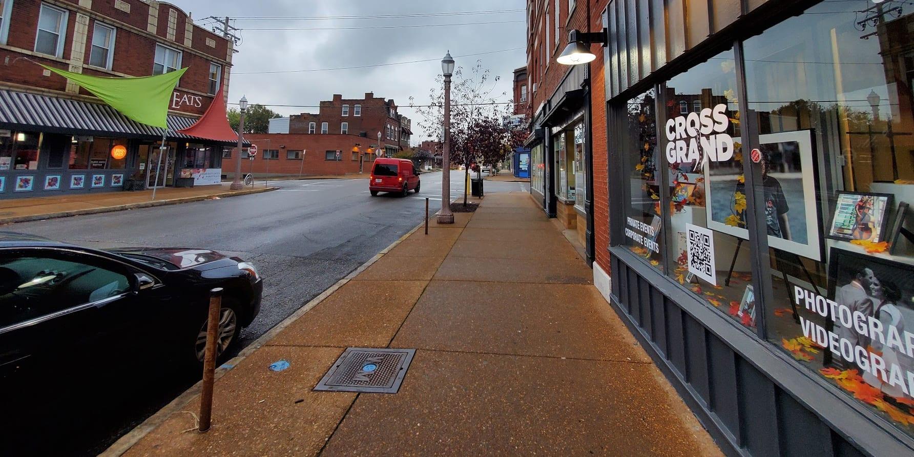 Cross Grand's studio at 3304 Meramec Street in Downtown Dutchtown.