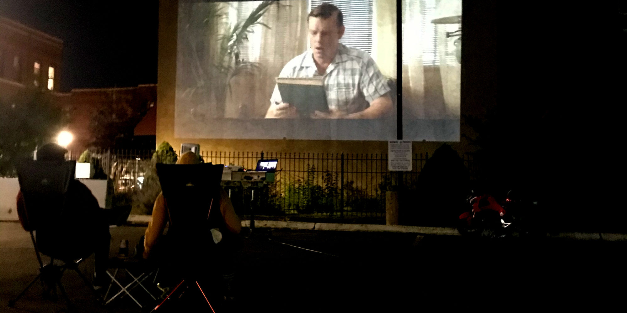 Movie Night at the NIC in Downtown Dutchtown.