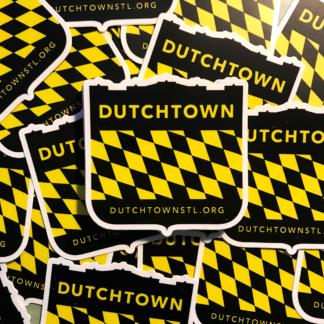Dutchtown Shield stickers.