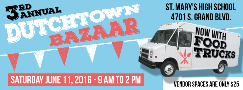 Dutchtown Bazaar: Saturday June 11th at St. Mary's