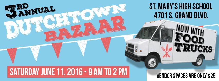 Dutchtown Bazaar: Saturday June 11th at St. Mary's