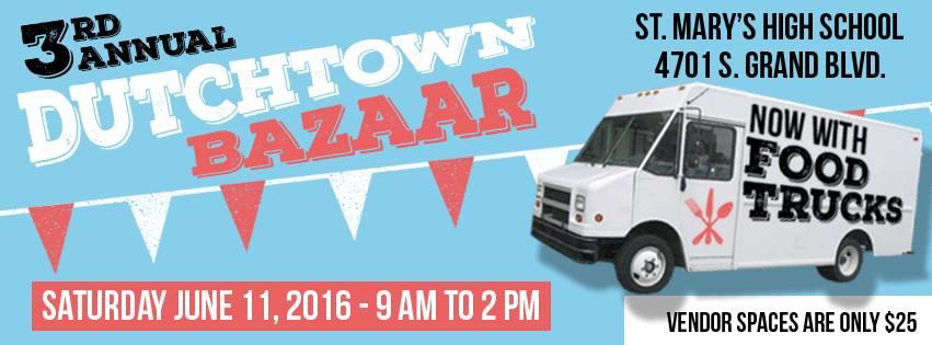 Dutchtown Bazaar Saturday June 11th