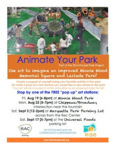 Animate Your Park flyer