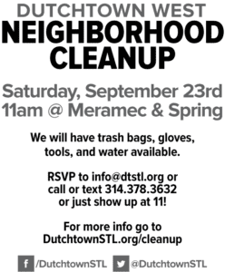 Dutchtown West neighborhood cleanup flyer