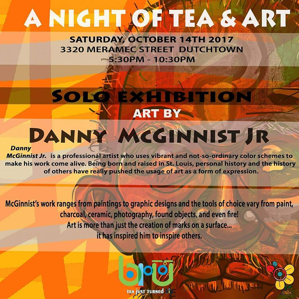A Night of Tea & Art flyer