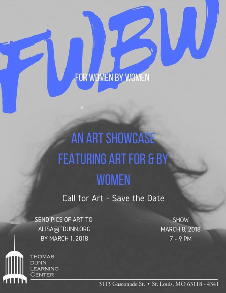 For Women By Women: An art showcase featuring art for and by women. (Flyer)