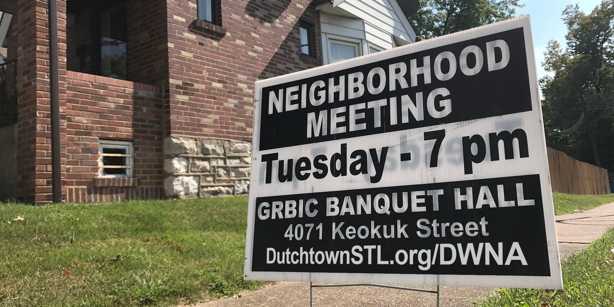 Dutchtown West Neighborhood Meeting