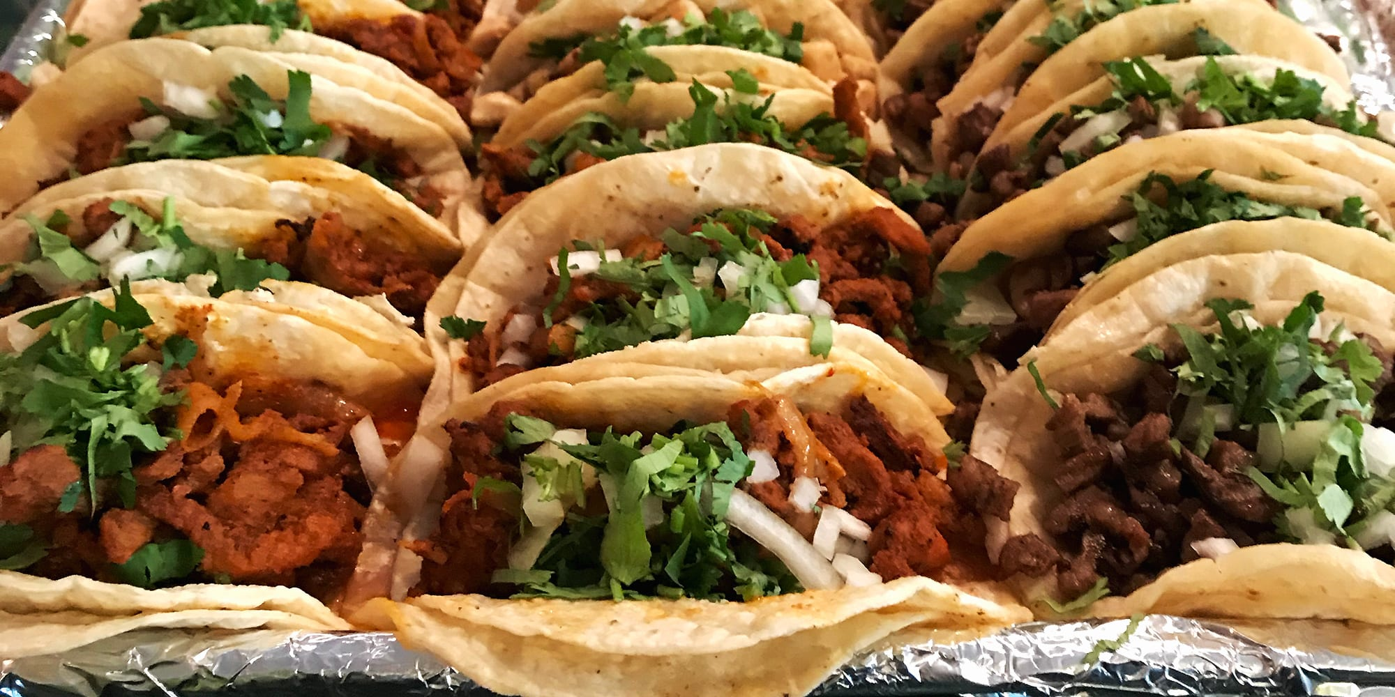 A variety of delicios tacos from Palacios Mexican Restaurant in Dutchtown, St. Louis.