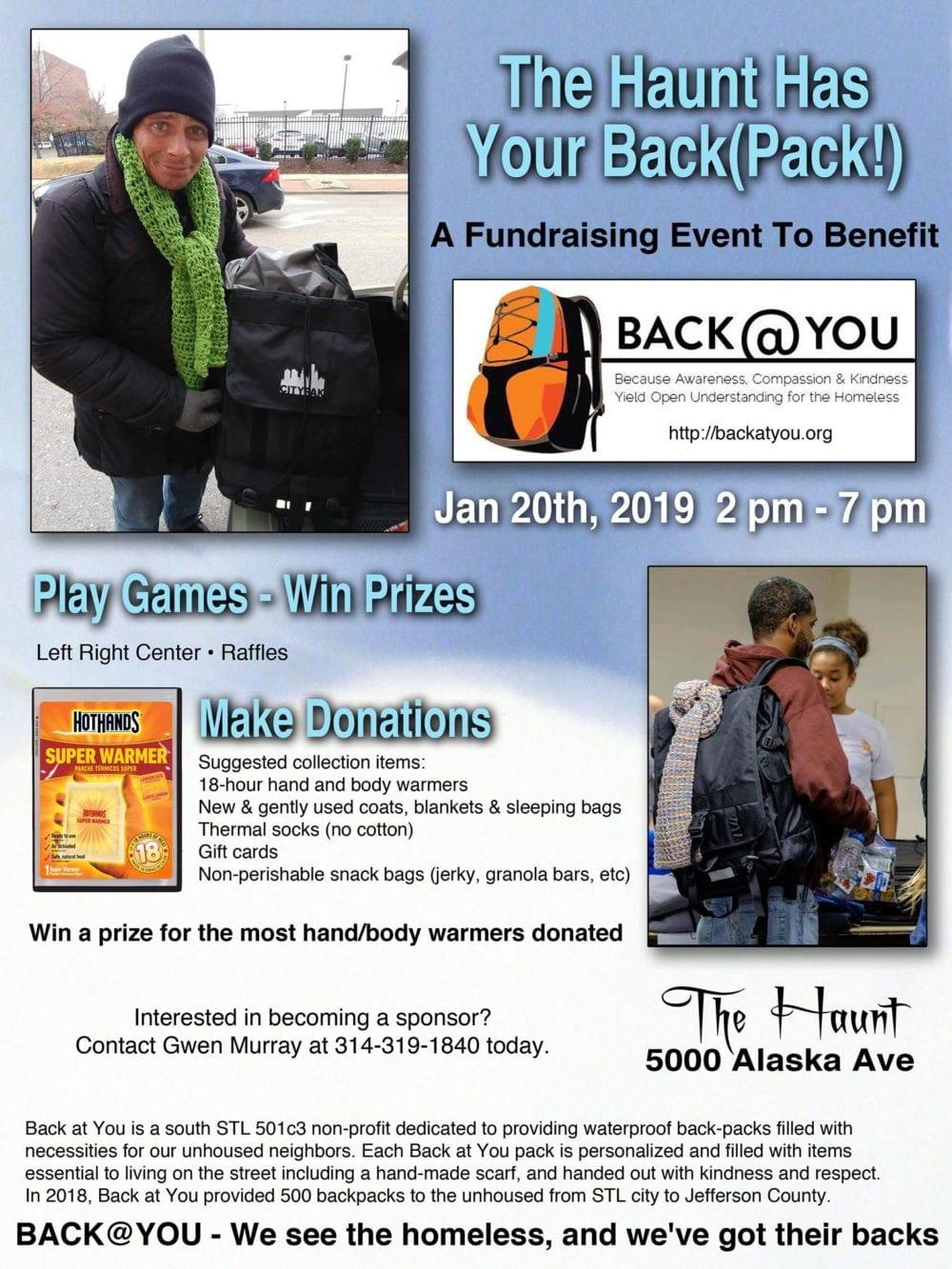 The Haunt Has Your Back(Pack): A fundraiser for Back@You