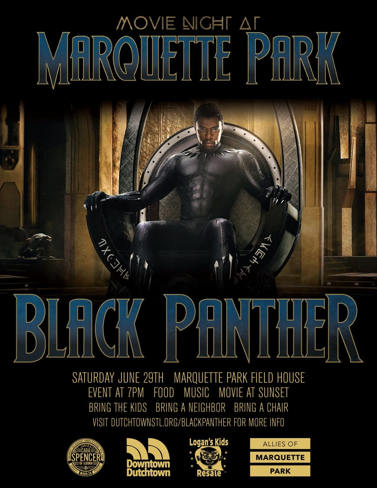 Movie Night at Marquette Park: Black Panther
