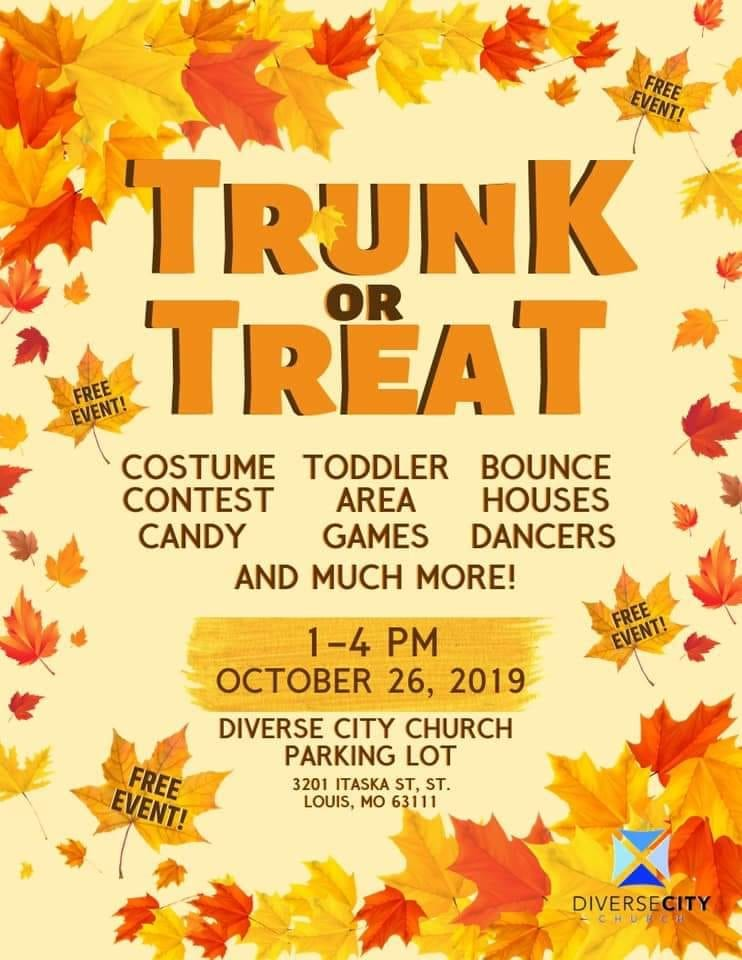 Diverse City Church Trunk-or-Treat flyer.