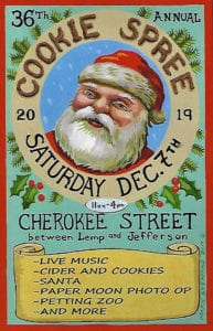 2019 Cherokee Antique Row Cookie Spree on Saturday, December 7th.