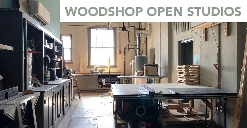 Woodshop open studios at Intersect Arts Center.