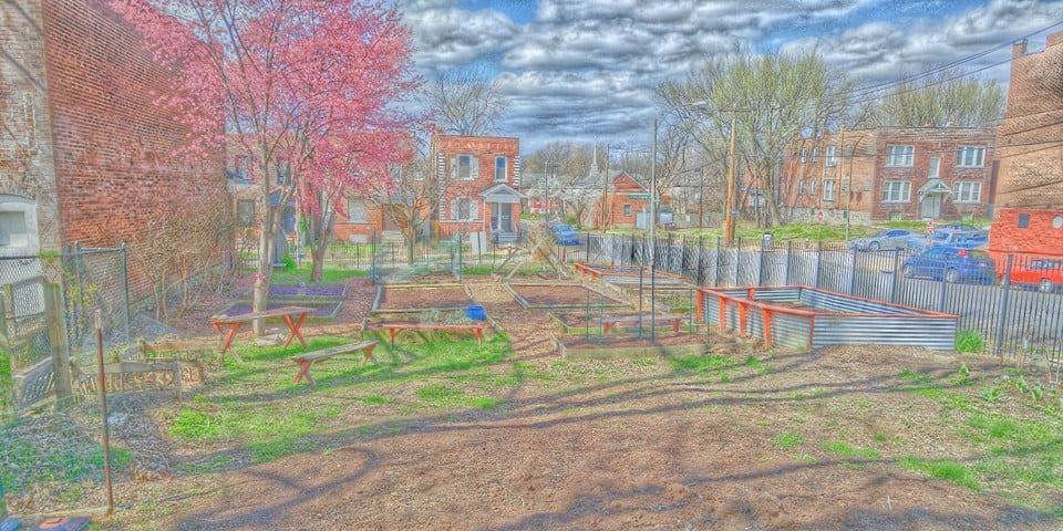 Pride of Potomac Garden in Gravois Park.