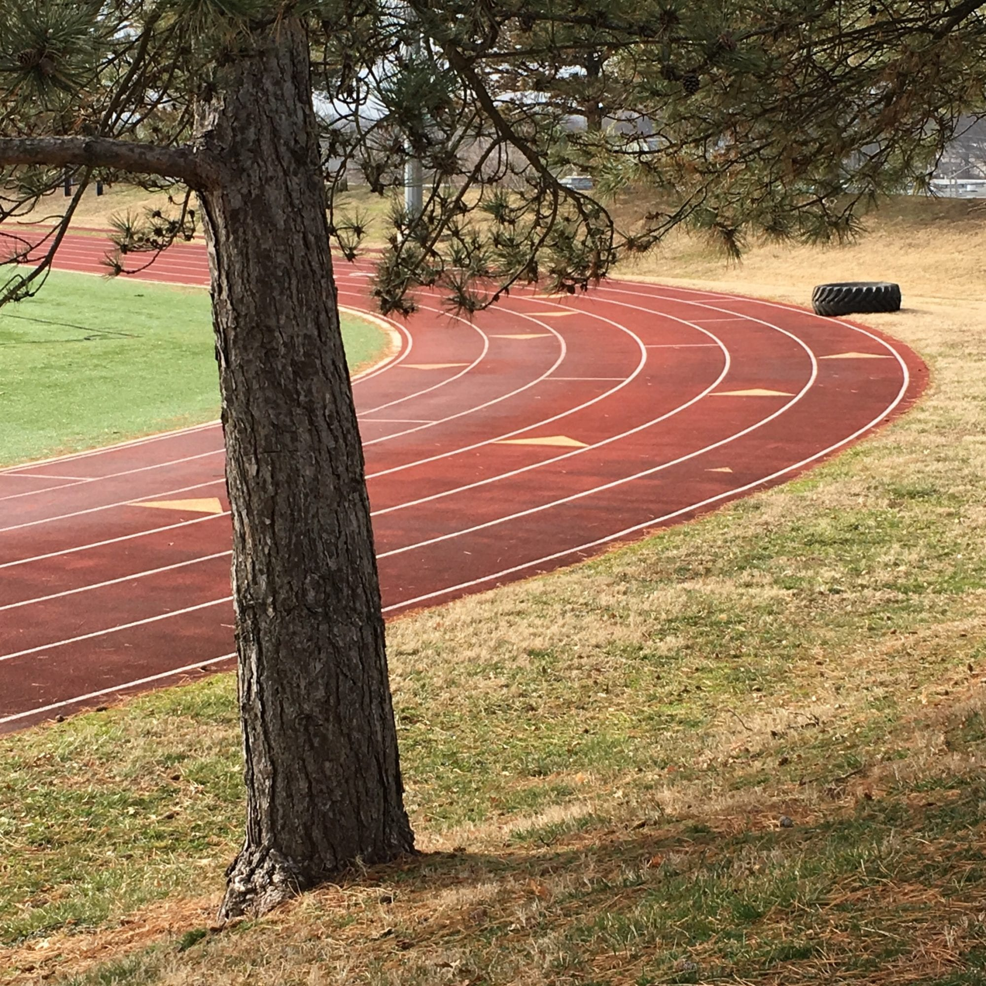 Track at St. Mary's High School in Dutchtown, St. Louis. Photo by Josh Burbridge.