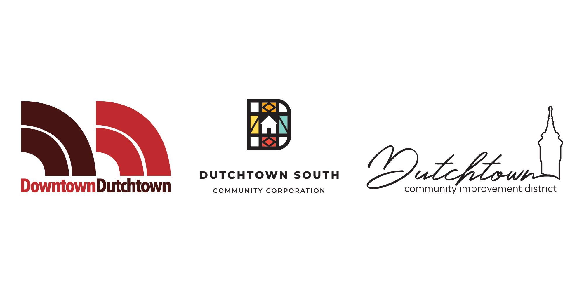 Downtown Dutchtown, Dutchtown South Community Corporation, and Dutchtown Community Improvement District logos.