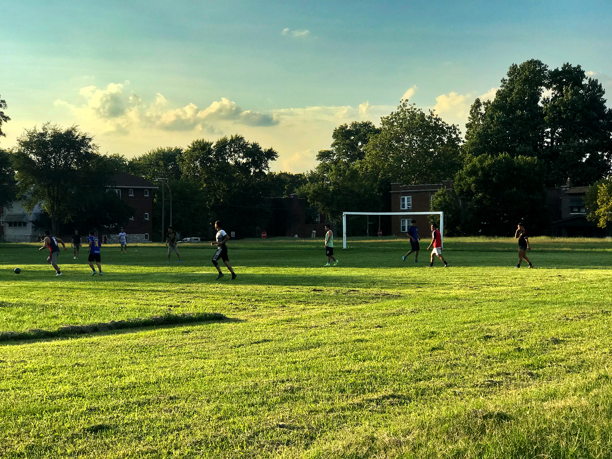 Soccer at Marquette Park in Dutchtown, St. Louis, MO.